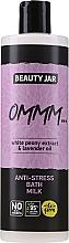 Perfumería y cosmética Leche de baño natural con extracto de peonía blanca y aceite de lavanda - Beauty Jar Anti-Stresse Bath Milk