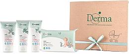 Perfumería y cosmética Set para bebés - Derma Eco Baby (pomada/100ml+crema/100ml+champú/150ml+toallitas húmedas/64)