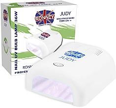 Perfumería y cosmética Lámpara UV para manicura, blanca - Ronney Profesional Judy UV 36W (GY-UV-230) Lamp