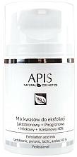 Perfumería y cosmética Mezcla de ácidos para exfoliación para pieles con signos de envejecimiento - APIS Professional Lacticion + Pirogron + Milk + Azelaine 40%