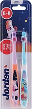Perfumería y cosmética Cepillo dental infantil, 6-9 años, unicornio y delfín - Jordan Step By Step Soft