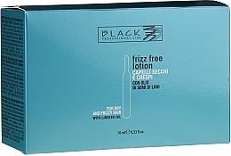 Perfumería y cosmética Ampollas para alisar el cabello con aceite de semillas de lino - Black Professional Line Anti-Frizz