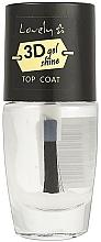 Perfumería y cosmética Top coat brillante, efecto 3D - Lovely 3D Shine