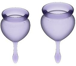 Perfumería y cosmética Copa menstrual violeta, 2uds. - Satisfyer Feel Good Menstrual Cups Lila