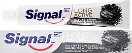 Perfumería y cosmética Pasta dental con polvo de carbón - Signal Long Active Nature Elements Charcoal
