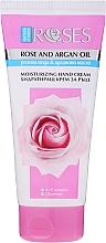 Perfumería y cosmética Crema de manos hidratante con agua de rosas y aceite de argán - Nature of Agiva Roses Rich Moisturizing Hand Cream