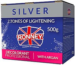 Perfumería y cosmética Polvo decolorante profesional con aceite de argán, platino - Ronney Dust Free Bleaching Powder With Argan