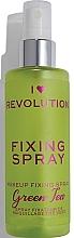 Perfumería y cosmética Spray fijador de maquillaje refrescante e hidratante con aroma a té verde - I Heart Revolution Fixing Spray Green Tea