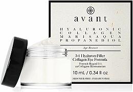 Perfumería y cosmética Crema antiedad para contorno de ojos 3 en 1 con ácido hialurónico y colágeno - Avant Skincare 3-1 Hyaluron-Filler Collagen Eye Formula