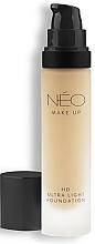 Perfumería y cosmética Base de maquillaje cremosa ligera con ácido hialurónico, SPF 30 - NEO Make Up HD Ultra Light Foundation