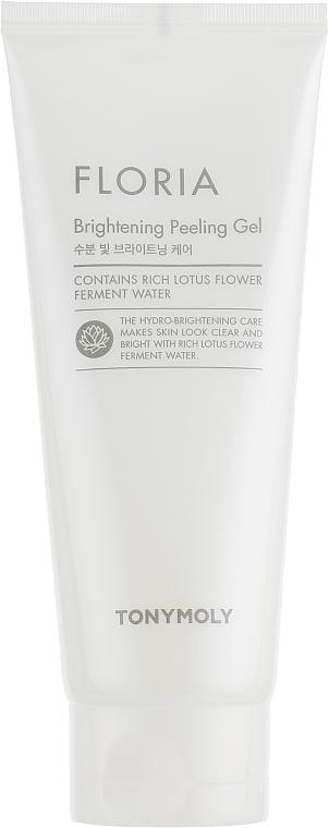 Exfoliante facial en gel con agua fermentada de flor de loto - Tony Moly Floria Brightening Peeling Gel