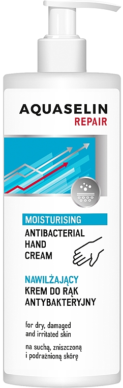 Crema de manos antibacteriana para piel seca e irritada - AA Aquaselin Repair Hand Cream