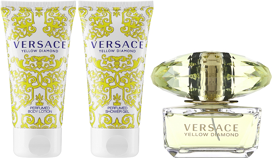 Versace Yellow Diamond - Set (eau de toilette/50ml + loción corporal perfumada/50ml + gel de ducha perfumado/50ml) — imagen N2