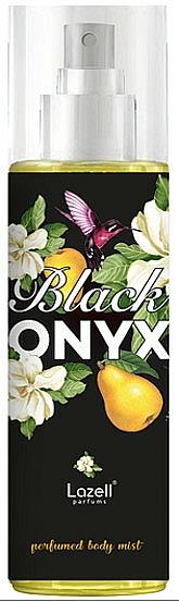 Lazell Black Onyx - Bruma corporal perfumada con aroma a pimienta rosa, café y vainilla