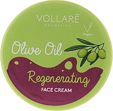 Perfumería y cosmética Crema facial regeneradora con aceites de aguacate y macadamia - Vollare Regenerating Olive Oil Face Cream