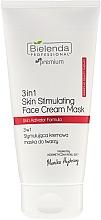 Perfumería y cosmética Mascarilla crema facial con ácido hialurónico y extracto de romero - Bielenda Professional Individual Beauty Therapy 3in1 Skin Stimulating Face Cream Mask