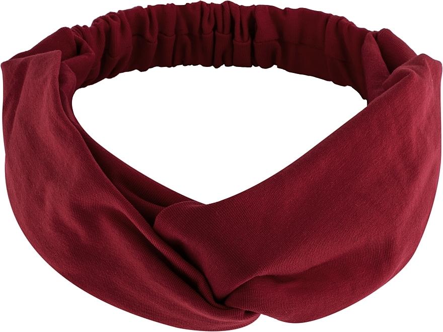"""Cinta de pelo, de tela, borgoña """"Knit Twist"""" - MakeUp Hair Accessories"""