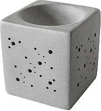 Perfumería y cosmética Lámpara aromática cuadrada, gris - Flagolie By Paese Cube Fireplace Grey
