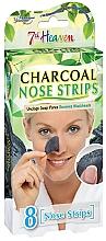 Perfumería y cosmética Bandas de limpieza de nariz con carbón activado, 8uds. - 7th Heaven Charcoal Nose Strips