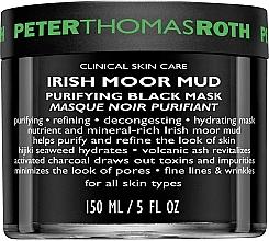 Perfumería y cosmética Mascarilla facial purificante negra con barro irlandés de páramo - Peter Thomas Roth Irish Moor Mud Purifying Black Mask