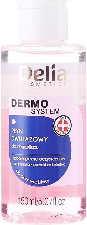 Loción desmaquillante bifásica con aceite de marula - Delia Dermo System The Be-phase Makeup Remover — imagen N1