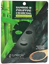 Perfumería y cosmética Mascarilla facial de tela - G-synergie Bamboo & Philippine Charcoal Face Mask