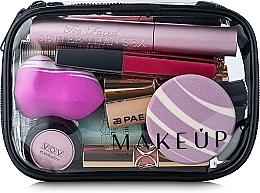 Perfumería y cosmética Neceser cosmético, transparente, (15x10x5cm) - MakeUp Visible Bag (sin contenido)