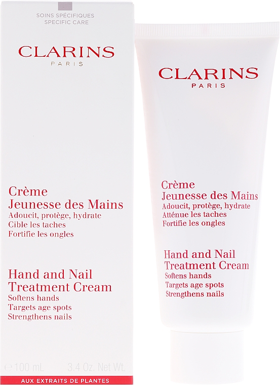Crema de manos con aceite de sésamo y manteca de karité - Clarins Hand & Nail Treatment Cream — imagen N1