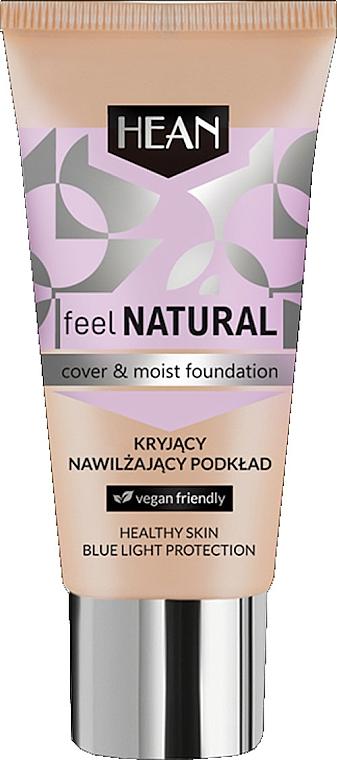 Base de maquillaje hidratante, vegana - Hean Feel Natural Cover & Moist Foundation