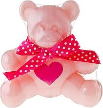 Perfumería y cosmética Jabón infantil de glicerina con aroma a rosa, osito rosa - Chlapu Chlap Glycerine Soap