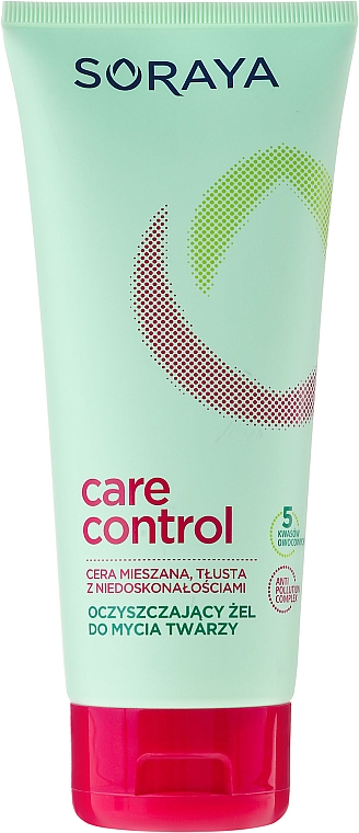 Gel limpiador facial con ácido salicílico y vitamina B1, B2 y C - Soraya Care Control Gel — imagen N1