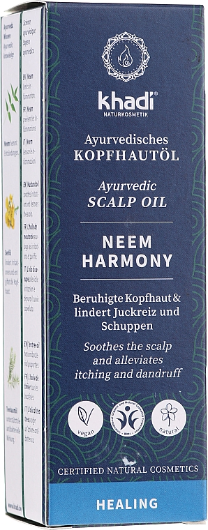 Aceite ayurvédico natural anticaspa - Khadi Ayurvedic Scalp Oil Neem Harmony