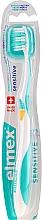 Perfumería y cosmética Cepillo dental de dureza extra suave, azul turquesa con amarillo - Elmex Sensitive Toothbrush Extra Soft