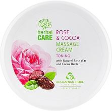Perfumería y cosmética Crema de masaje natural con manteca de cacao y aceite de rosa - Bulgarian Rose Herbal Care Rose & Cococa Massage Cream