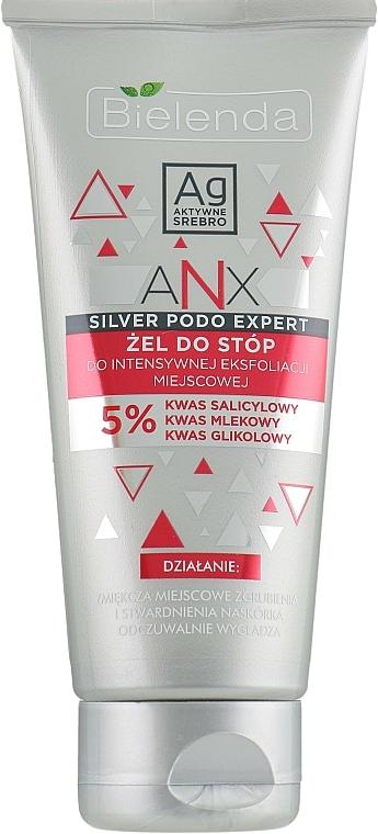 Gel exfoliante para pies con aceite de árbol de té - Bielenda ANX Podo Detox Gel