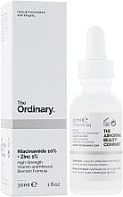 Perfumería y cosmética Sérum facial con 10% niacinamida y 1% zinc - The Ordinary Niacinamide 10% + Zinc PCA 1%
