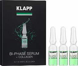Perfumería y cosmética Sérum facial bifásico con colágeno, aceite de jojoba, almendra dulce & soja - Klapp Bi-Phase Serum Collagen