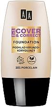 Perfumería y cosmética Base de maquillaje 2en1 correctora del tono de piel, cobertura fuerte, acabado natural y sedoso - AA 2in1 Cover&Correct Foundation