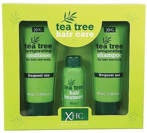 Xpel Marketing Ltd Tea Tree Invigorating - Set para cabello (champú/100 ml + acondicionador/100 ml + tratamiento/30 ml)