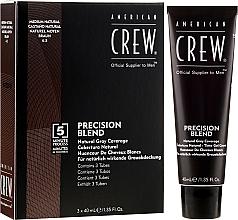 Perfumería y cosmética Tinte gel crema, cobertura natural, castaño natural 4-5, 3x40 ml - American Crew Precision Blend Shades