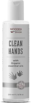 Desinfectante de manos y superficies con aceite esencial de menta y naranja roja - Wooden Spoon Natural Clean Hands