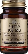 Perfumería y cosmética Complemento alimenticio en cápsulas hidroxitriptófano - Solgar 5-Htp 100mg Veg Capsules