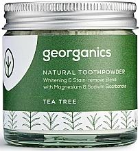 Perfumería y cosmética Polvo dental con carbón activo, magnesio y sodio bicarbonato - Georganics Tea Tree Natural Toothpowder