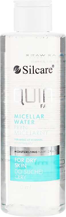 Agua micelar hidratante para piel seca con hialurolato de sodio y vitaminas A, E, F y B3 - Silcare Quin Face Normalizing Micellar Water