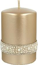 Perfumería y cosmética Vela decorativa color dorado 7x10cm - Artman Crystal Opal Pearl