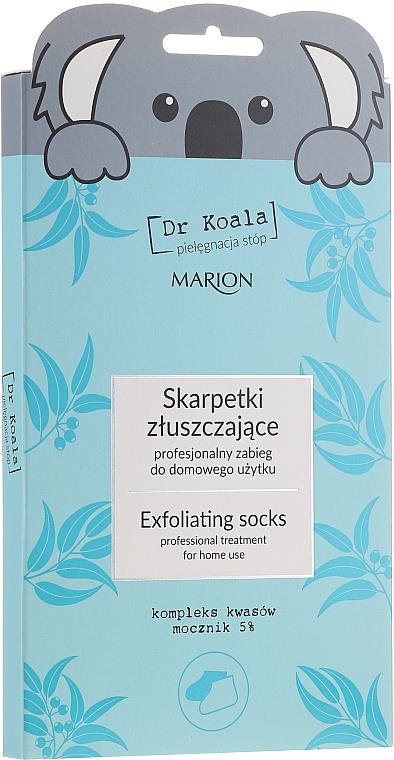 Mascarilla exfoliante calcetines para pies con 5% urea y aceite de eucalipto - Marion Dr Koala Exfoliating Socks