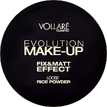 Polvo suelto fijador de maquillaje, efecto mate - Vollare Cosmetics Evolution Make-up Rise Powder — imagen N1