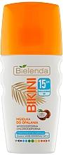Perfumería y cosmética Bruma solar para rostro y cabello con agua de coco, SPF15 - Bielenda Bikini Tanning Mist SPF 15