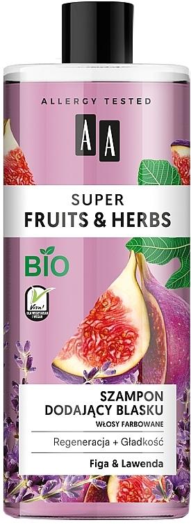 Champú con extracto de higo y lavanda - AA Super Fruits & Herbs Shampoo Fig & Lavender