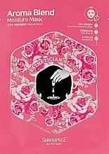 Perfumería y cosmética Mascarilla facial de tejido hidratante con agua de rosa damascena - Shangpree Aroma Blend Moisture Mask Shangpree